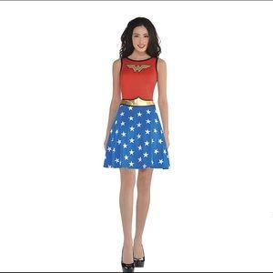 Adult Wonder Woman Fit & Flare Dress